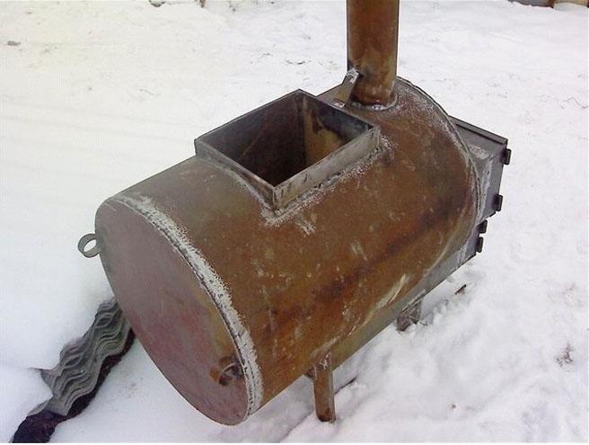 Банная печь из трубы горизонтальная своими руками