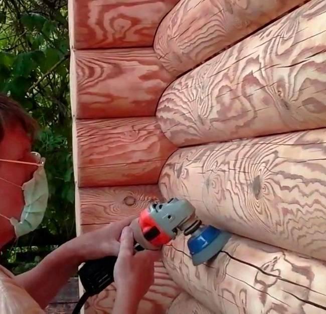 Технология: чем шлифовать бревна сруба