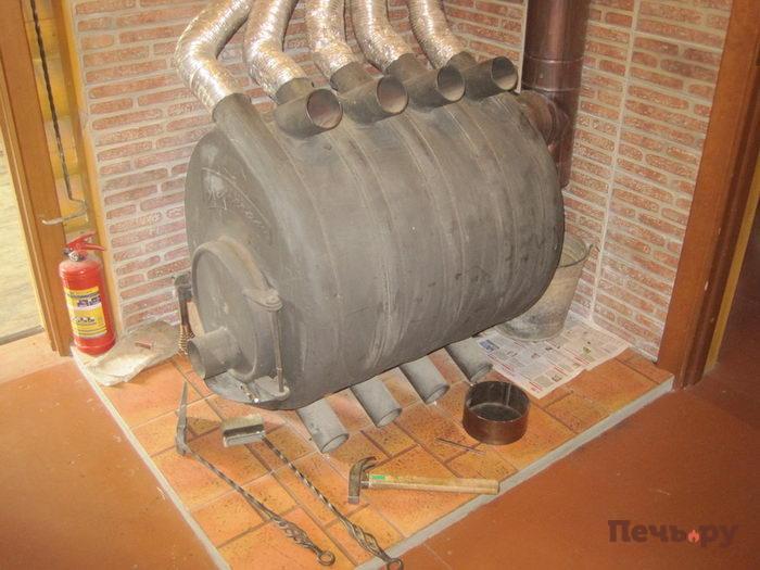 Печь варочно-отопительная газогенераторная бренеран аот-06 тип 00 1 конфорка 100м3