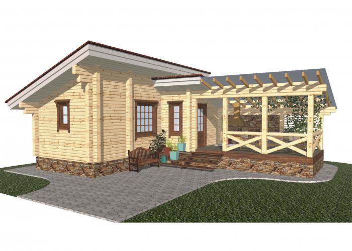 Оцениваем преимущества и выбираем проект бани с беседкой под одной крышей