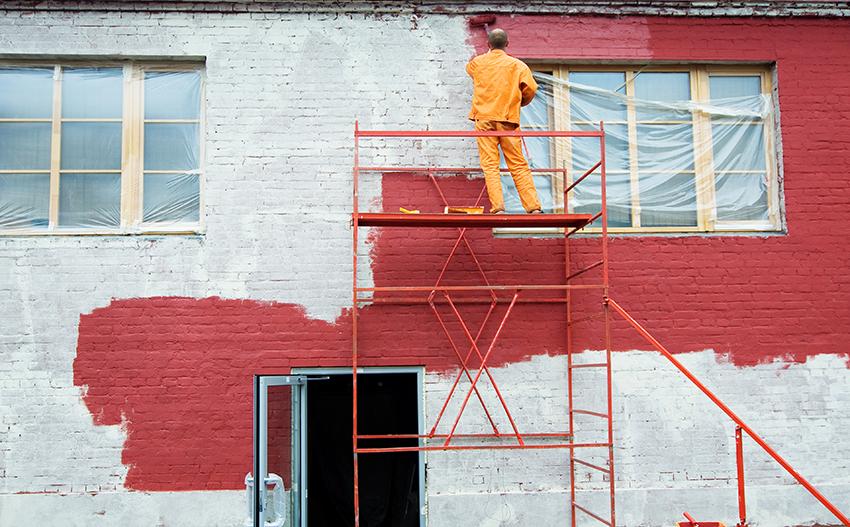 Фасадная краска для наружных работ по кирпичу (24 фото): составы для покраски фасада печи из силикатного кирпича