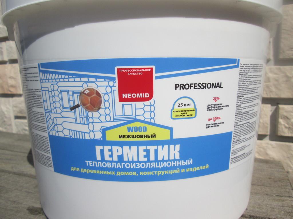 Преимущества утепления сруба герметиком neomid