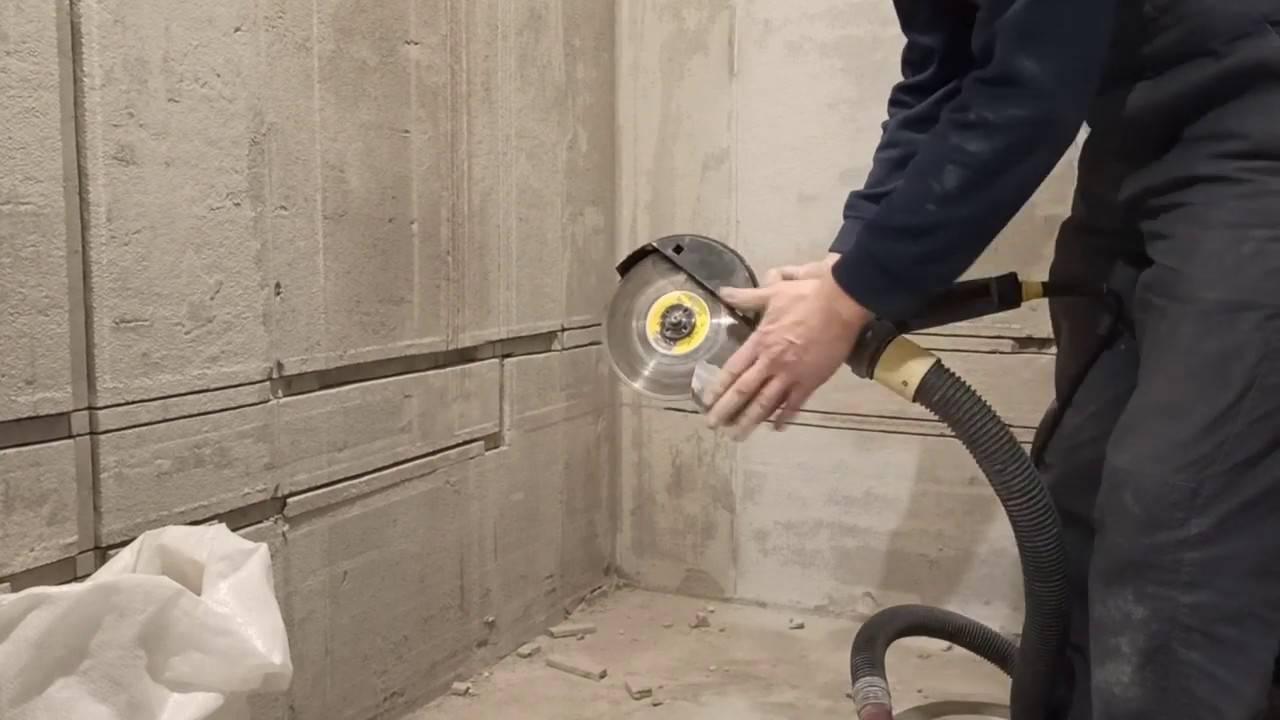 Как штробить стены под проводку без пыли (инструменты, технология)