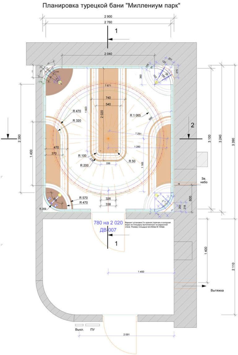 Совместное строительство хамам и финской сауны. особенности проектирования.