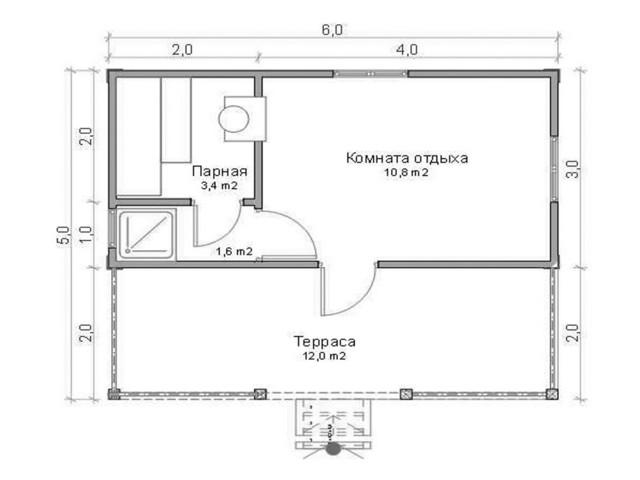 Баня 6х5, цена от 205 000 ₽: купить сруб из бревна 5 на 6 – баня мск, спб