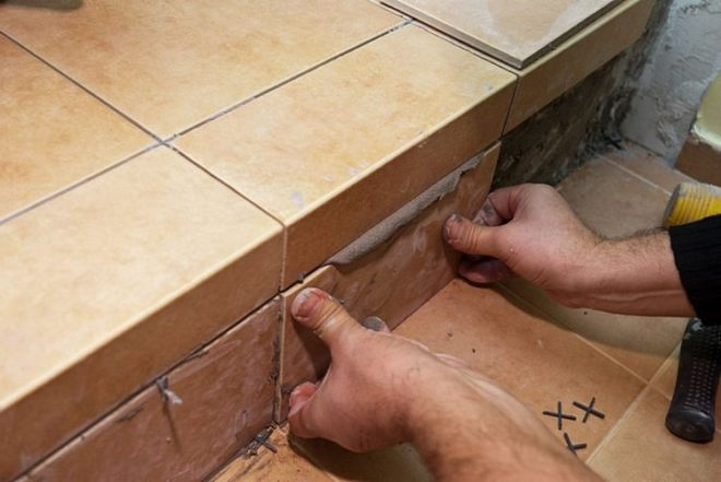 Укладка керамической плитки в бане своими руками
