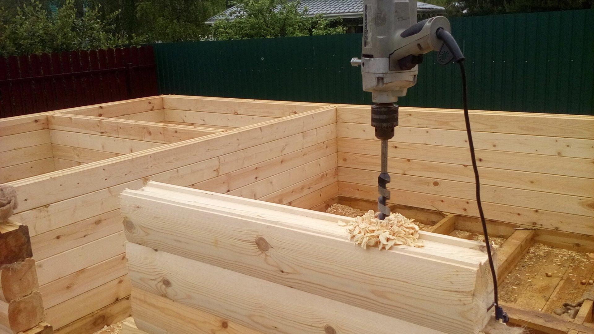 Строительство бани из профилированного бруса 4х4 м