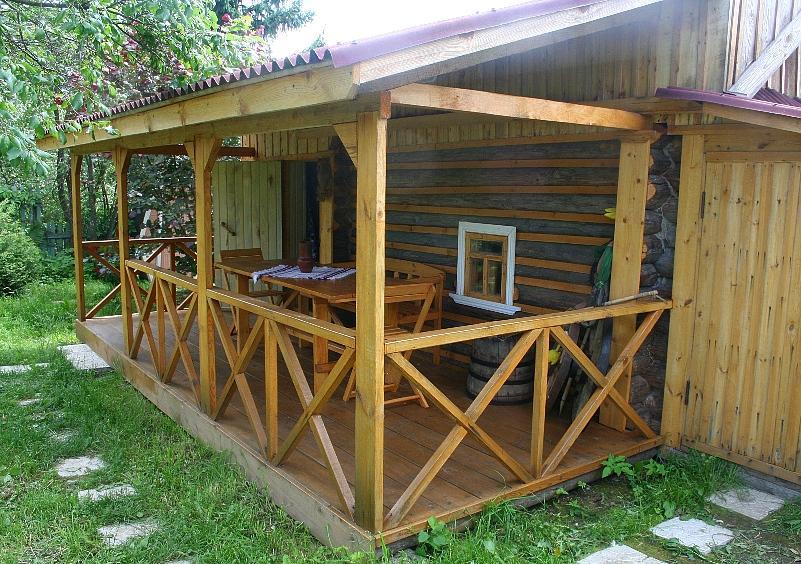 Баня с верандой: строительство с нуля + пристройка веранды к готовой бане