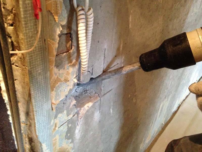Как штробить стены для прокладывания электропроводки