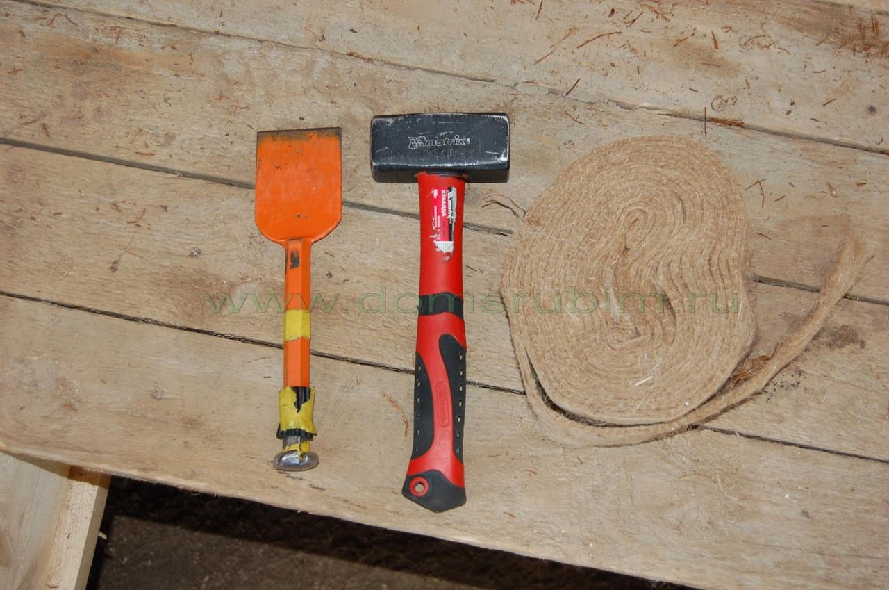 Как конопатить сруб - разбор способов и материалов для конопатки