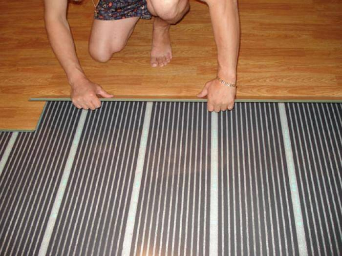 Монтаж теплого пола под ламинат на деревянный пол