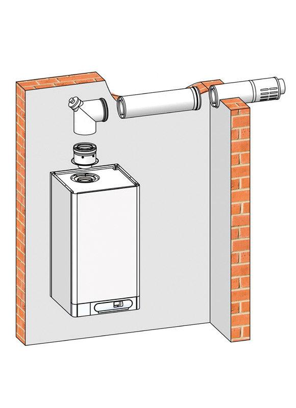 Коаксиальный дымоход для газового котла: производители, установка