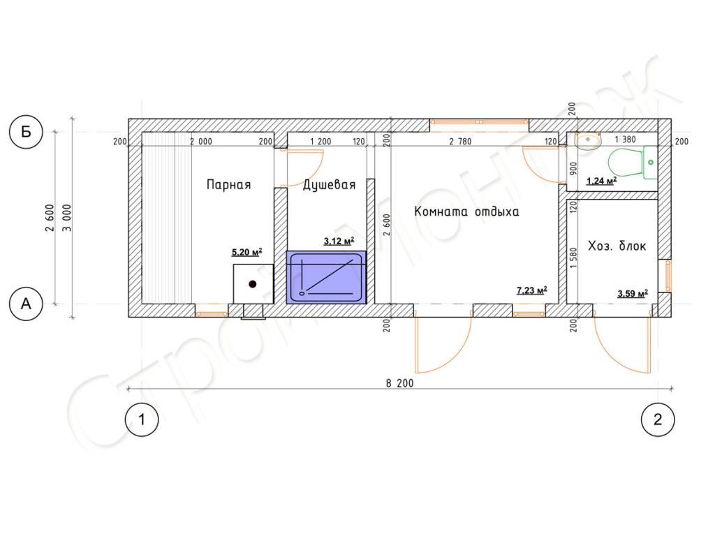 Баня с хозблоком под одной крышей: проекты с сараем и туалетом, дровяником