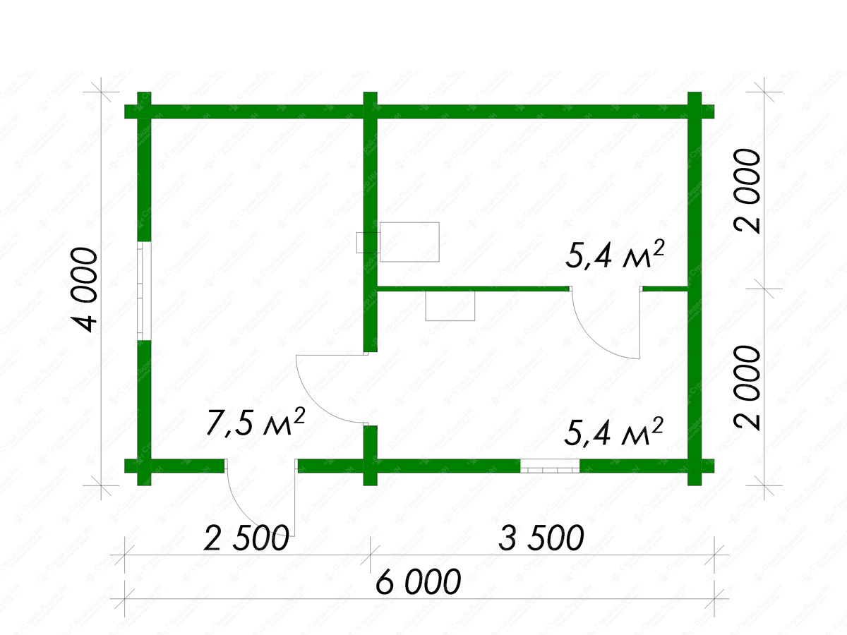 Баня 6 на 6: проект, особенности и фото   построить баню ру