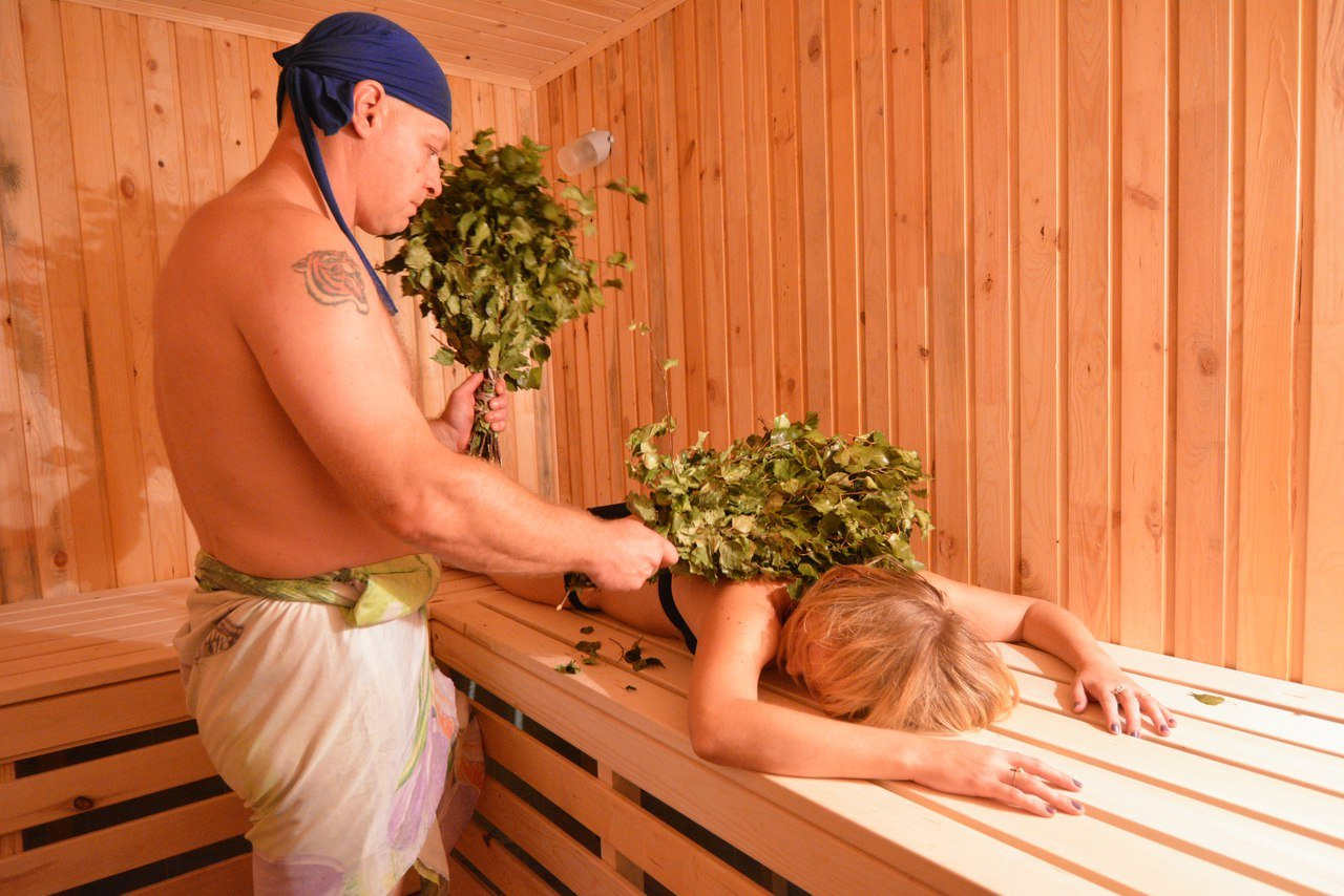 Масляный массаж в бане