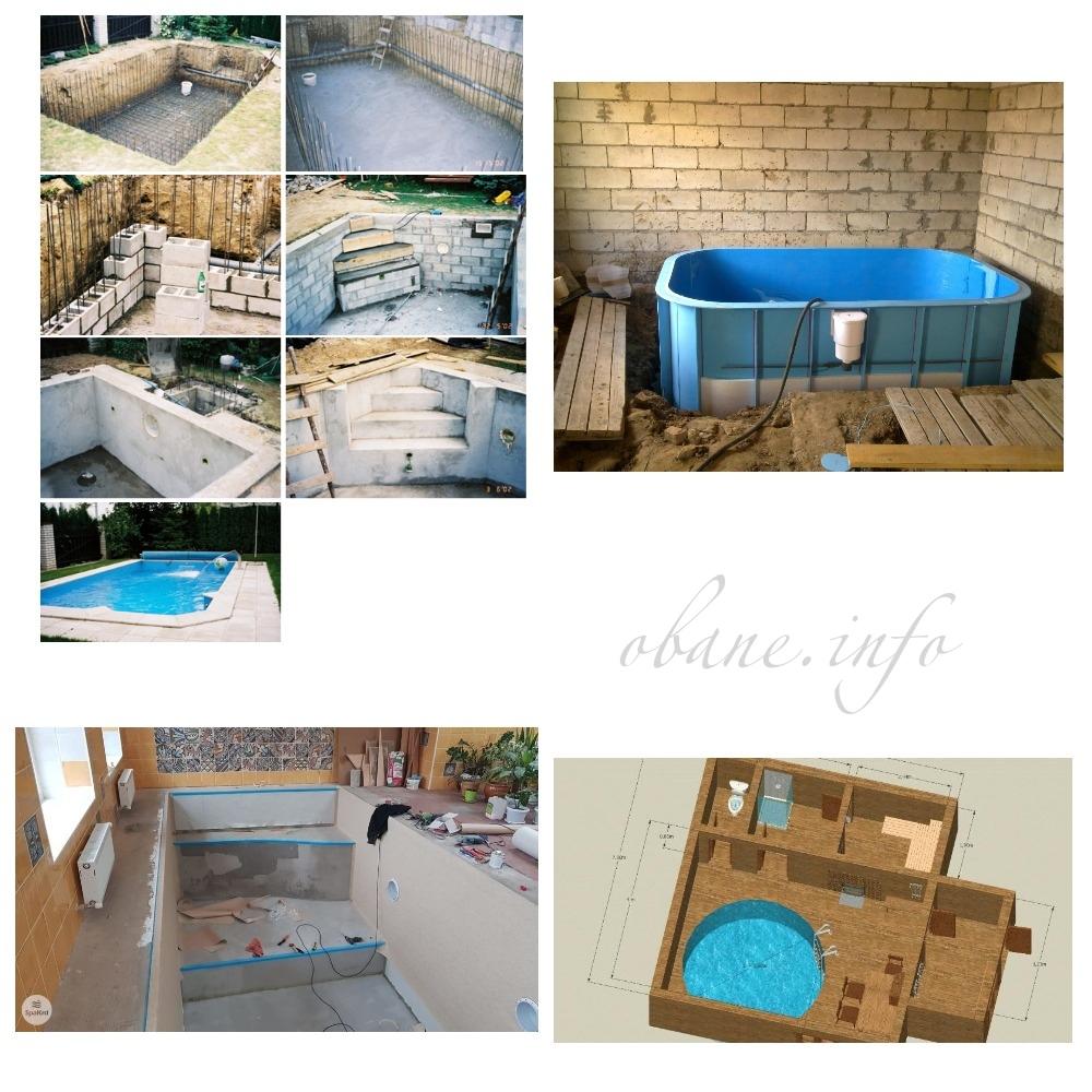 Как сделать бассейн в бане: этапы работ, варианты с фото   housedb.ru