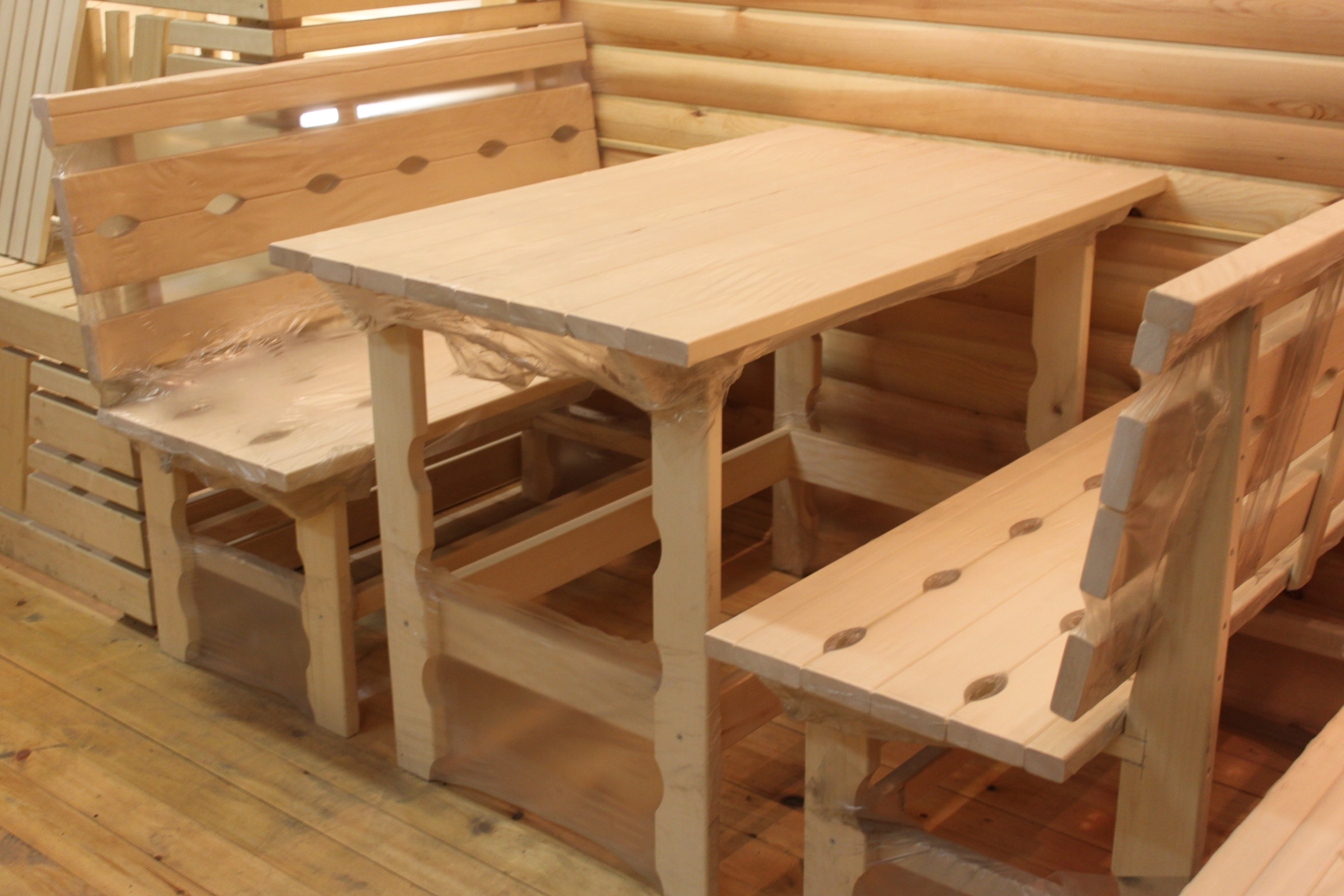 Выбираем мебель для бани: виды и дизайн