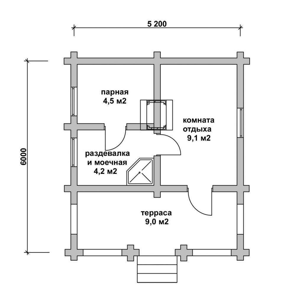 Строим баню из блоков