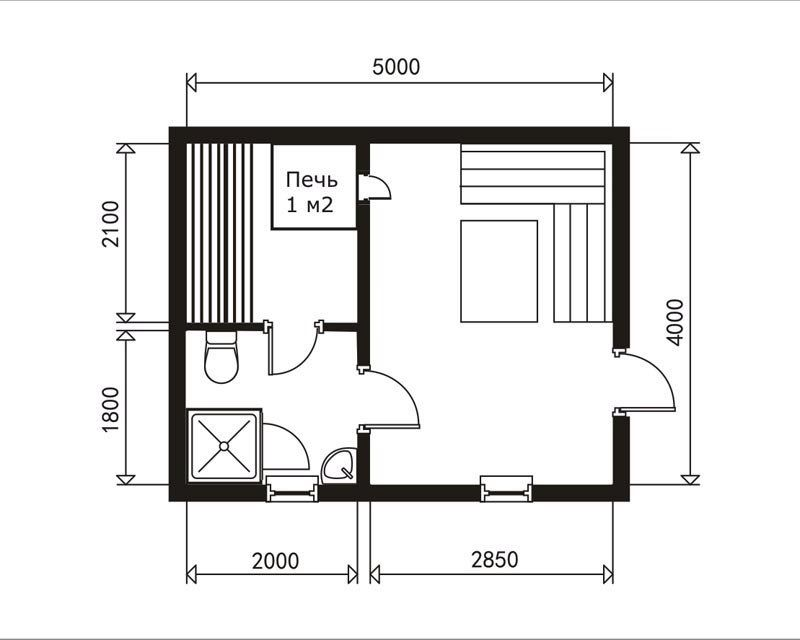 Баня размером 3 на 4: тонкости планировки