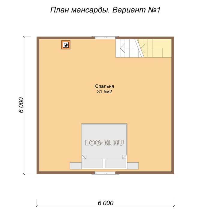 Баня 6 на 6 с мансардой [варианты проектов и строительство]