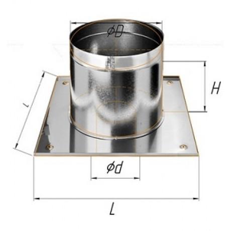 Потолочно-проходной узел дымохода: типы, требования и установка своими руками