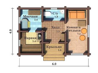 Планировка бани 6×4— идеи, материал, этажность