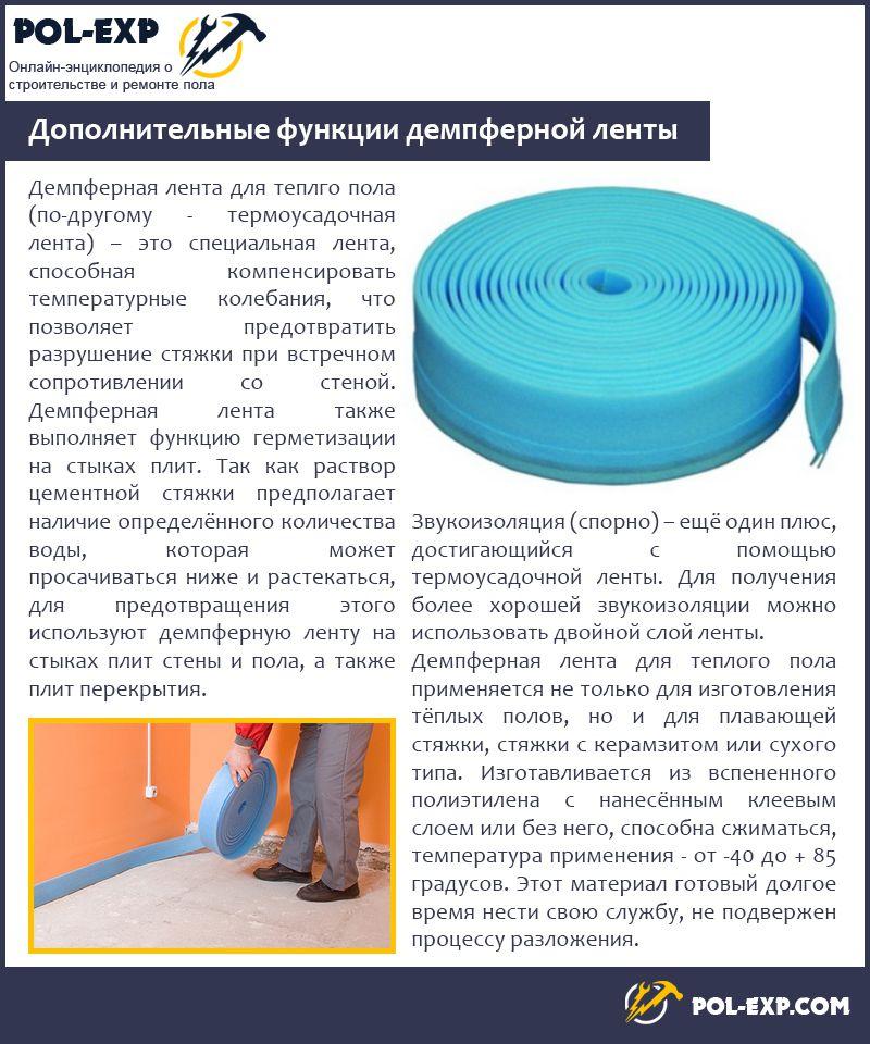 Демпферная лента для стяжки пола – для чего нужна и как используется
