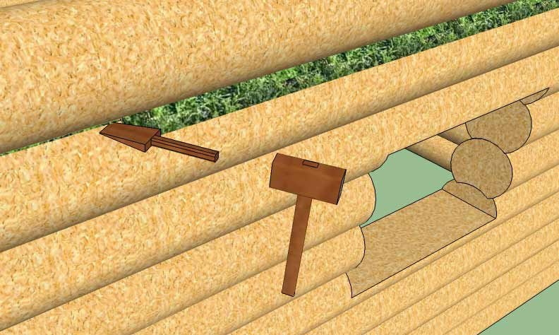 Строительный мох — эффективный утеплитель для сруба