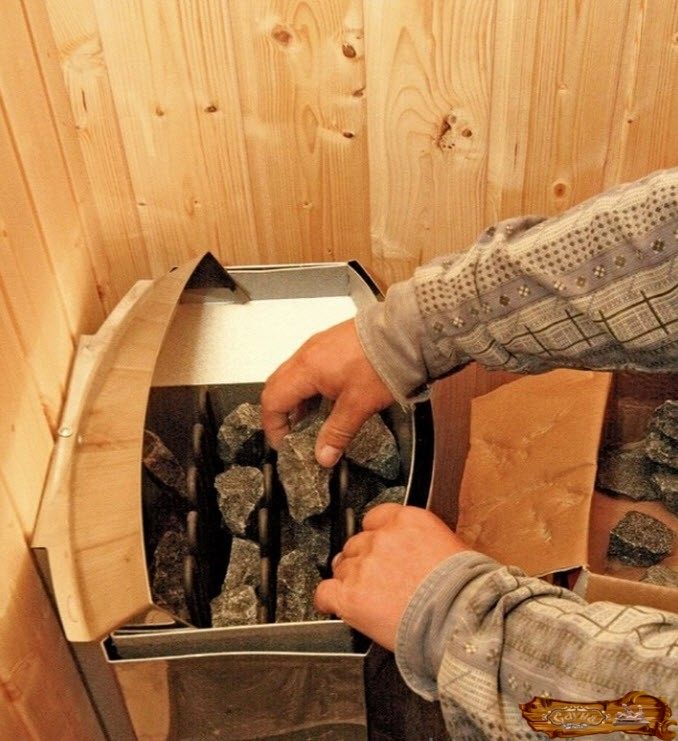 Как правильно укладывать камни в банную печь - всё о бане