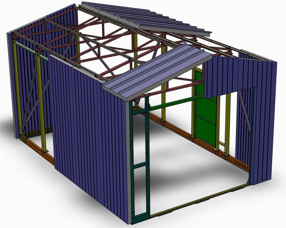 Технология строительства зданий из сэндвич-панелей — группа компаний «смк»