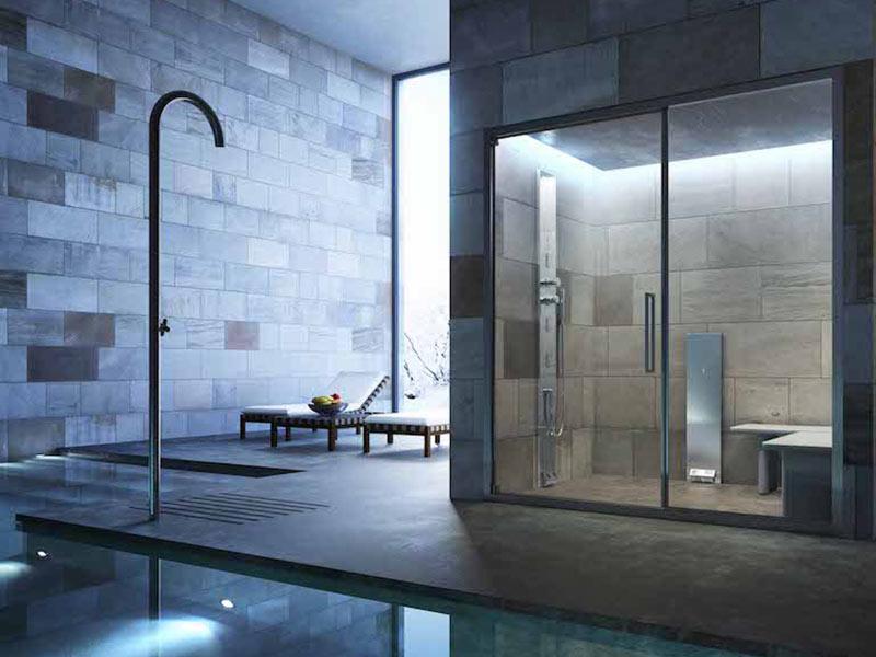 Душевая кабина с сауной для квартиры: с инфракрасной парной для ванной комнаты, с баней