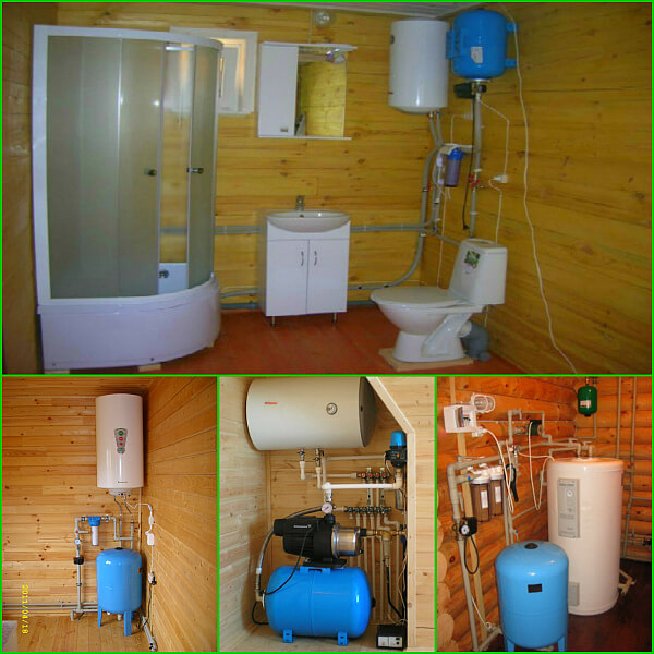 Водоснабжение частного дома. секреты установки. наружный и внутренний