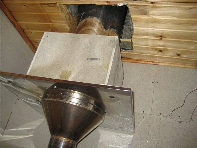 Как установить трубу в бане: как сделать проход дымохода через потолок, как вывести через крышу правильно, установка, разделка потолка, фото и видео