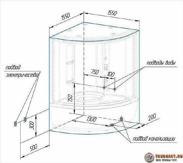 Простая установка душевой кабины в частном доме своими руками: советы и лайфхаки