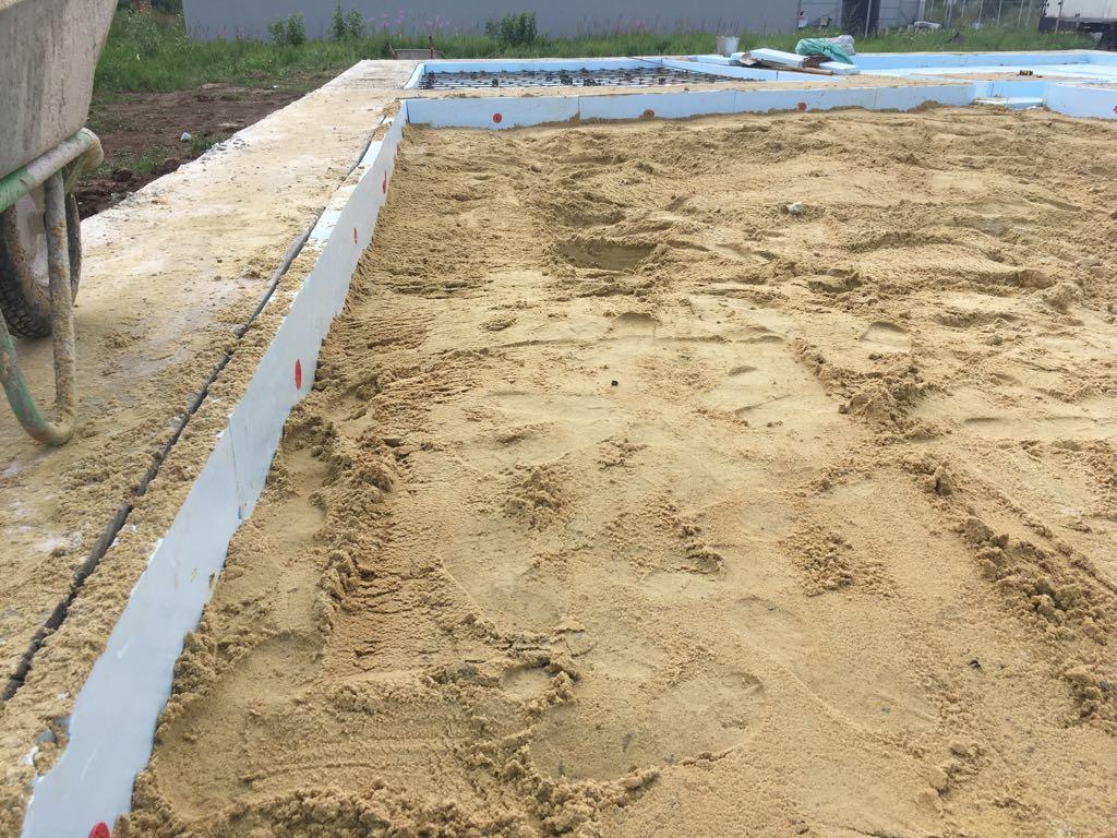 Подушка под фундамент дома из песка или щебня: что лучше?