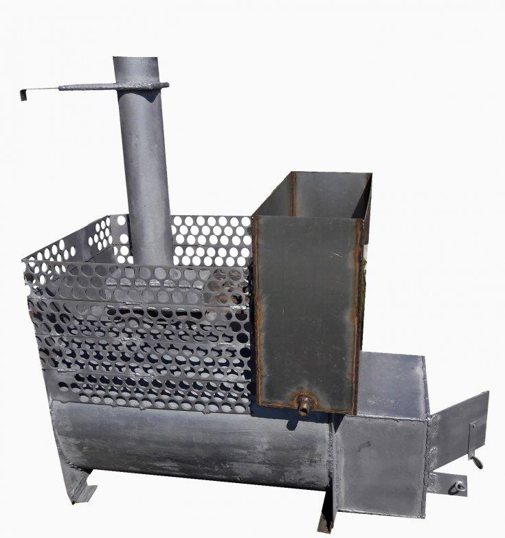 Банная печь из 530 трубы своими руками
