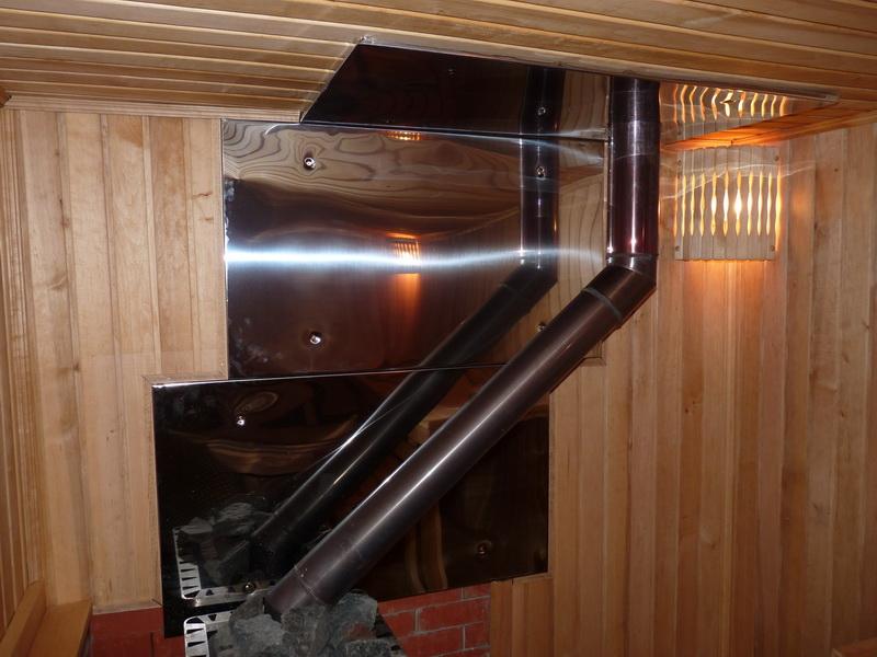 Безопасность – прежде всего! как просто и без суеты возвести защитный экран для печи в бане?