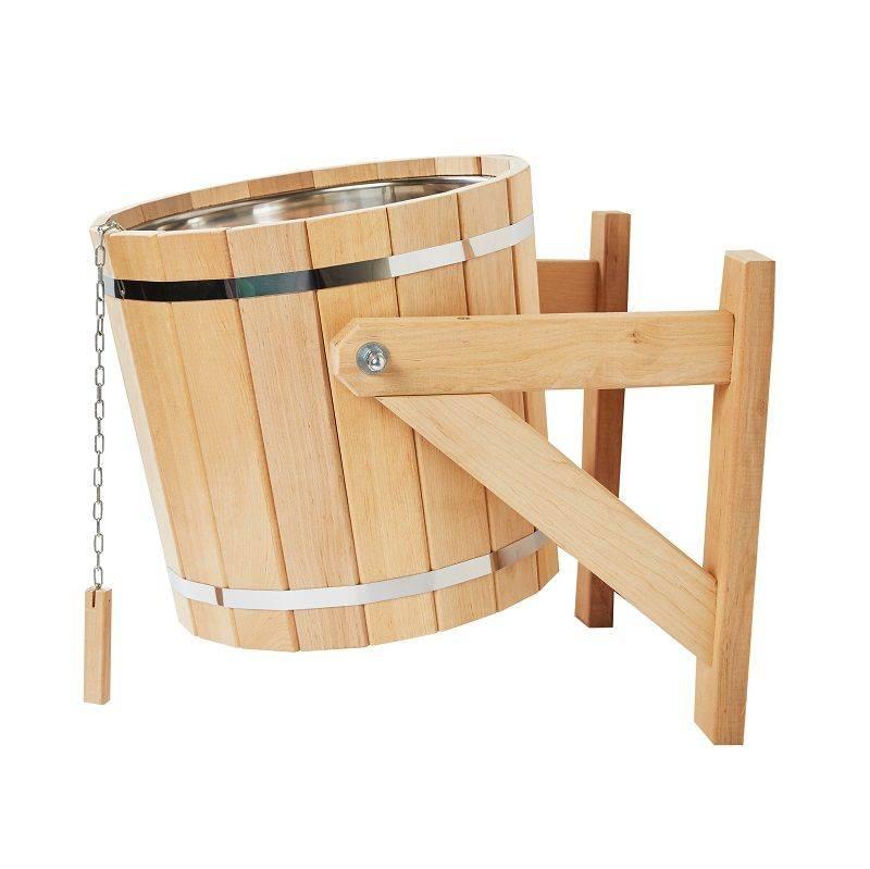 Обливное устройство для бани: преимущества недостатки. монтаж обливного ведра для бани