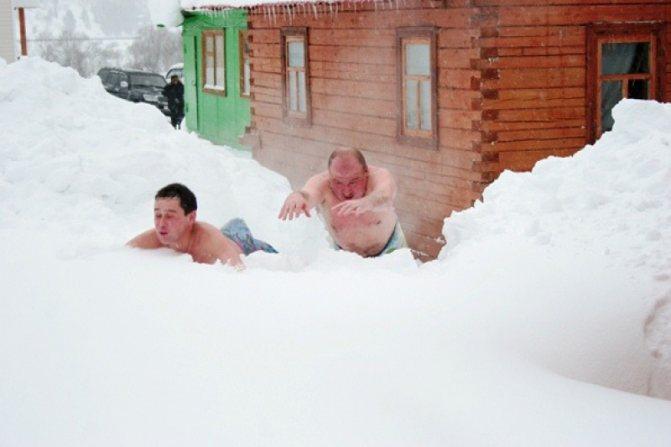 «лед и пламень» (температурные контрасты в бане: бассейн, холодный душ, снег, прорубь, моржевание и т.д.). русская баня