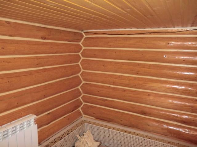 Чем покрасить стены в бане внутри