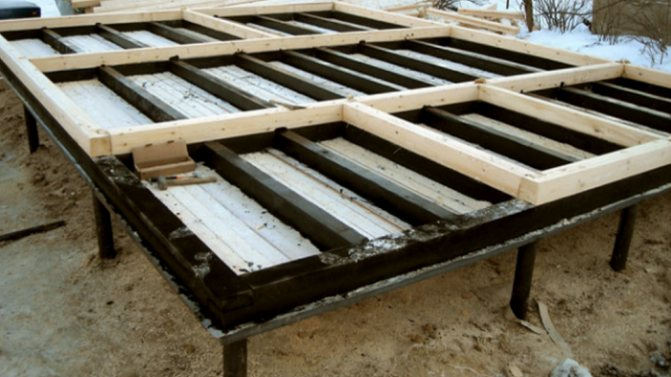 Пол в бане на винтовых сваях: устройство слива своими руками, как сделать в каркасной бане проливной пол на свайном фундаменте, фото и видео