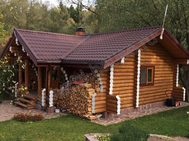 Бани из оцилиндрованного бревна под ключ в москве: проекты с ценой строительства и фото