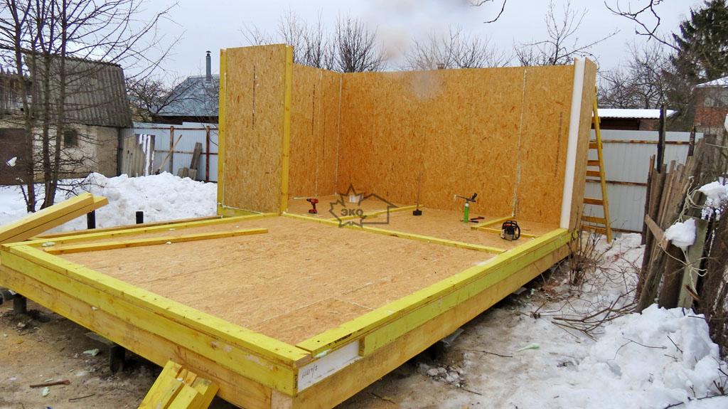 Строительство бани из сэндвич панелей своими руками: фото и видео инструкция