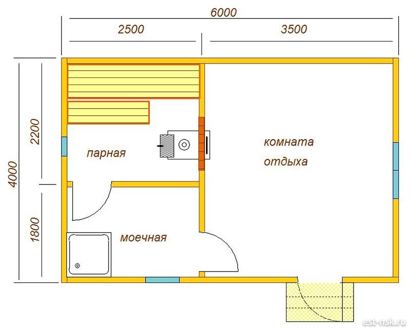 Миниатюрные баньки-красавицы 3 х 3 м. Особенности внутренней планировки