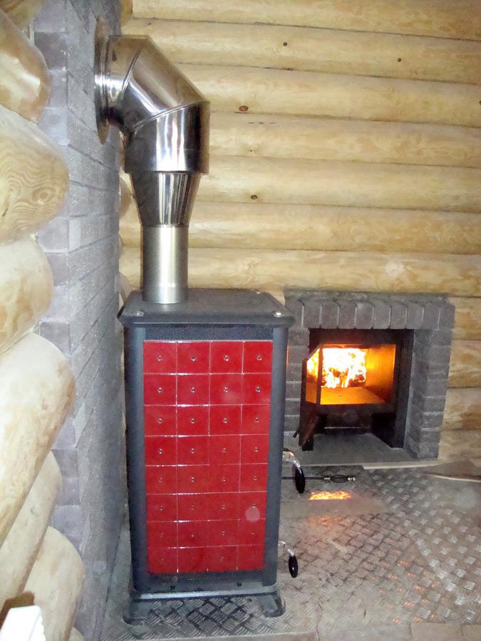Отопление бани от печи в парной   всё об отоплении