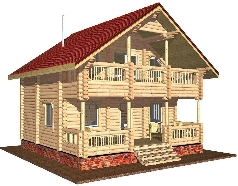 Баня дом двухэтажная