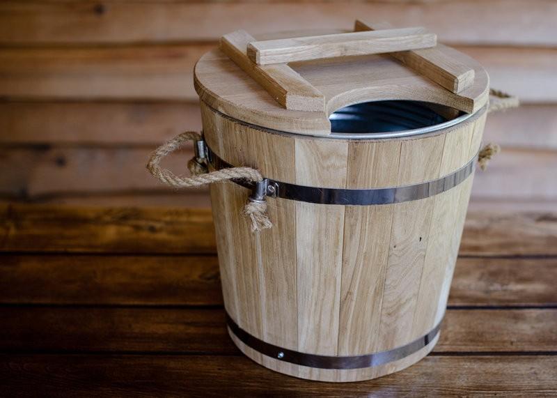 Запарник для веников с крышкой и вставкой - строим баню или сауну