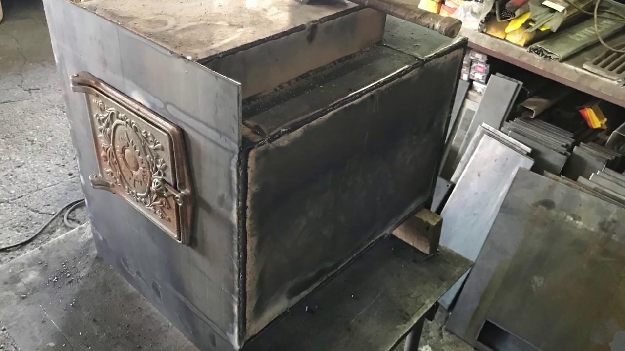Как сварить печь для бани из металла своими руками
