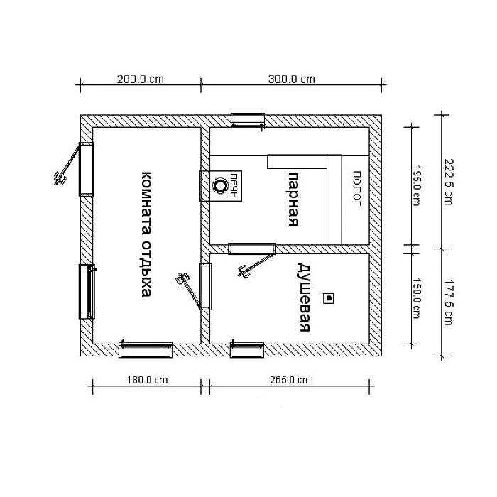Каркасная баня своими руками: проекты с мансардой 5×4 и 3х4