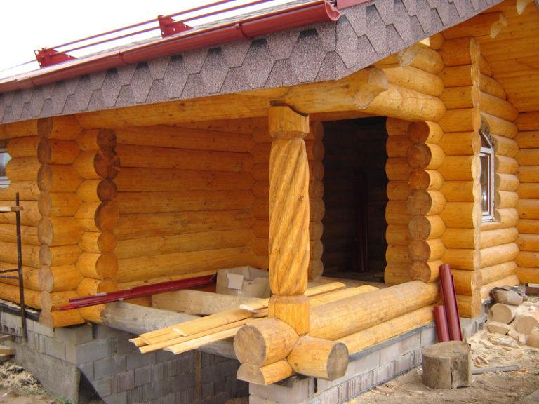 Бревно – как основной материал для строительства бани